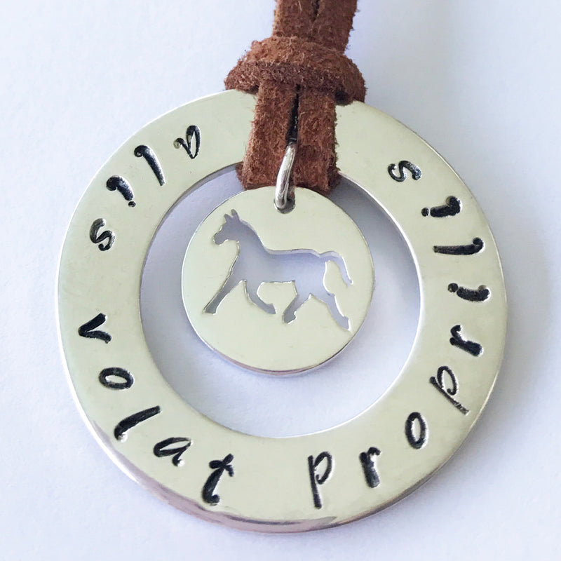 30 mm Personalised Hoop Necklace with Horse Dangle