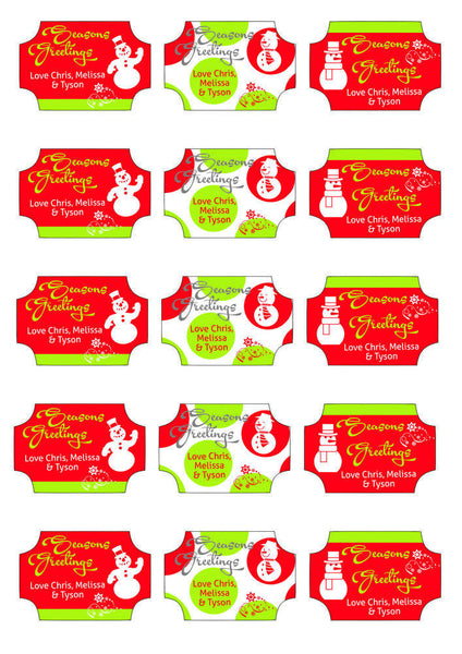 Labels - Personalised Christmas Gift Labels - Design 2