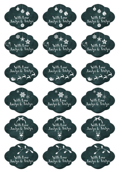 Labels - Personalised Christmas Gift Labels - Design 4