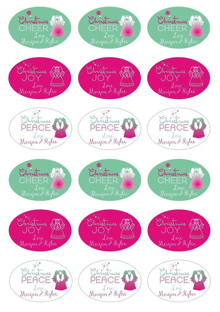 Savannah Moon Labels - Personalised Christmas Gift Labels - Design 5