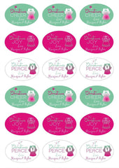 Labels - Personalised Christmas Gift Labels - Design 5