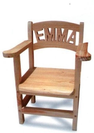 personalised wooden toddler chairs - with armrests (1-7 letters