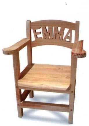 Personalised Wooden Toddler Chairs - With Armrests (8-12 letters)