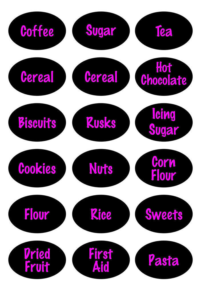 Savannah Moon Pantry & Office labels - Design 4 - Printed