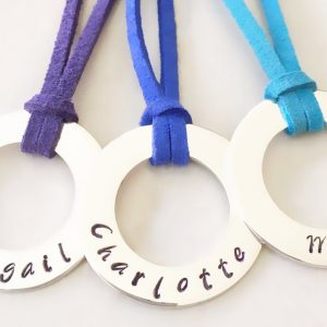 30 mm Personalised Hoop Necklace