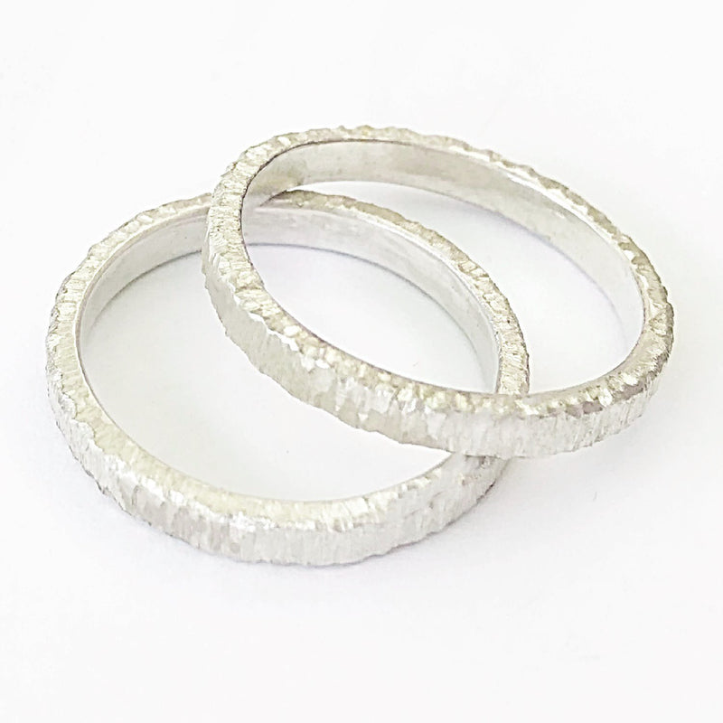 Sterling Silver Textured Stacking Ring