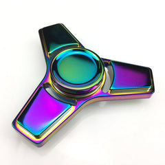 Aluminium Stress/ Fidget Tri-Spinner - Multi Colour