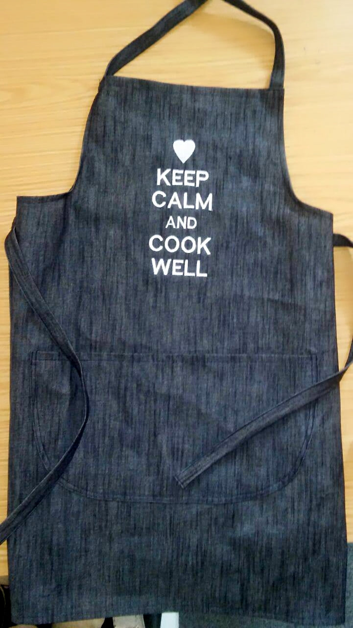 Apron - Embroidered Denim Apron