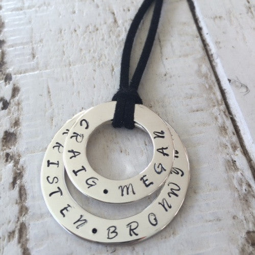 Combined Personalised Hoop Necklace