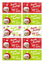 Labels - Personalised Christmas Gift Labels - Design 6