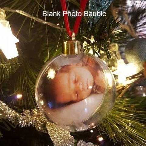 Photo Bauble - Clear Photo Bauble (8cm) - No Print