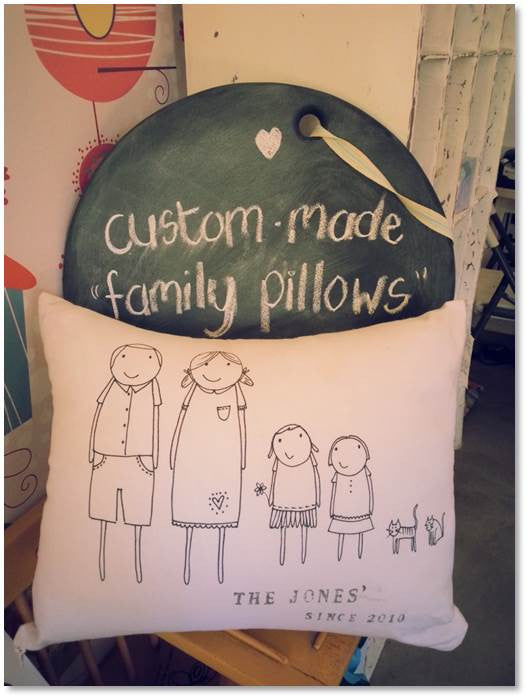 Custom Made Family Cushion