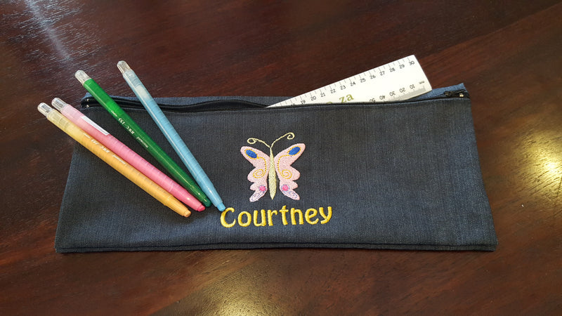 Personalised Pencil Bags (Double bags - one picture and name)
