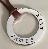 40 mm Personalised Hoop Necklace