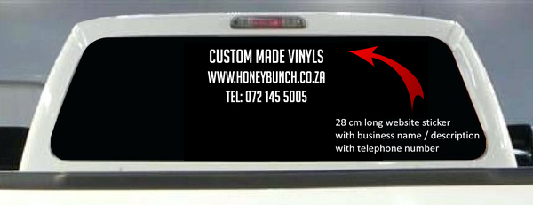 Website, telephone and business stickers - vinyl