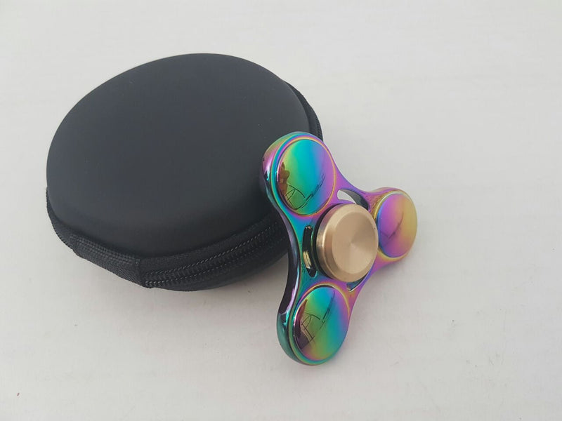 Aluminium Tri Spinner - Multi Colour Gyro (with screwdriver and pouch)