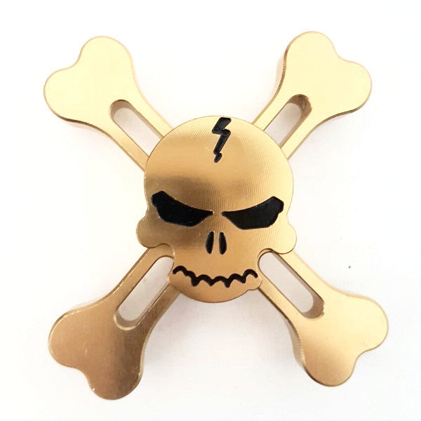 Metal Skull Spinner - Gold