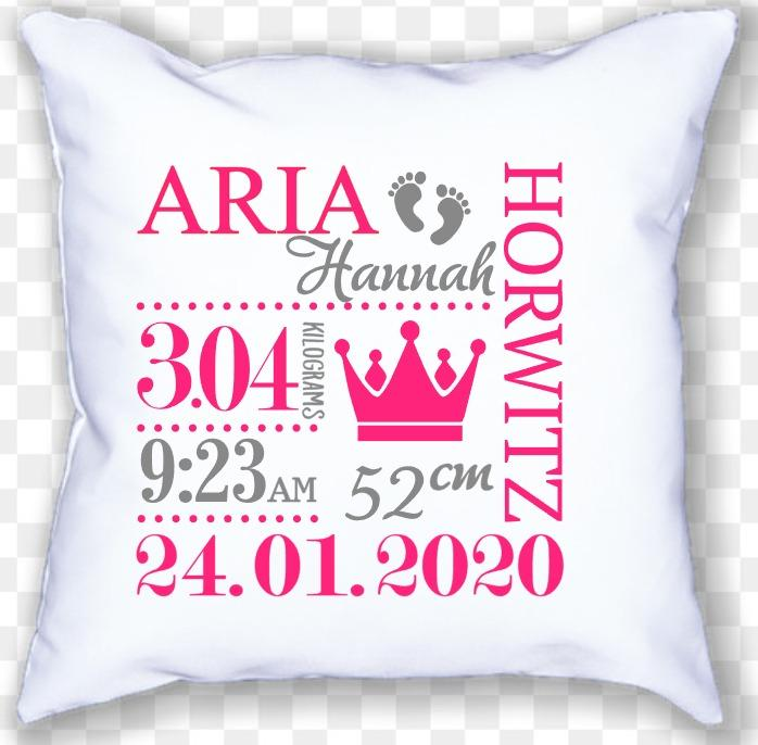 GM - Birthdate Announcement Cushion