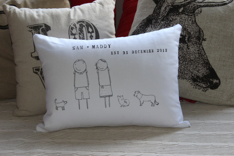Custom Made Cushions for Couples