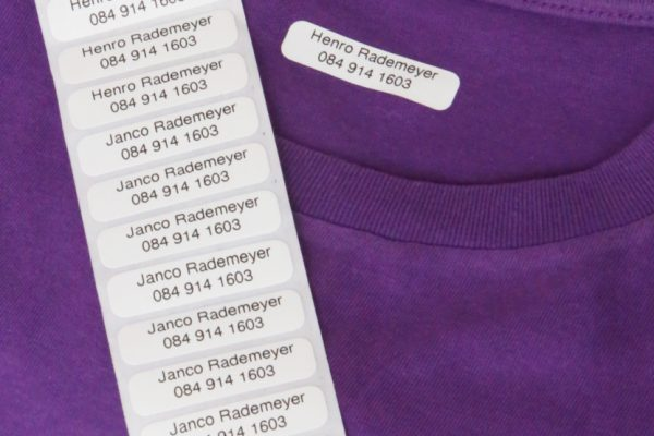 Clothing Labels - Iron on - 50 (white with black only)