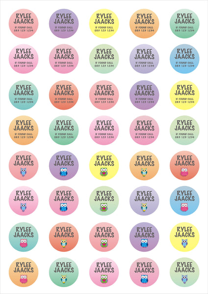 Sheet - Dot Vinyl Labels - Mini dots (40)