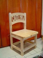 Personalised Wooden Toddler Chairs - Without Armrests (8-12 letters)