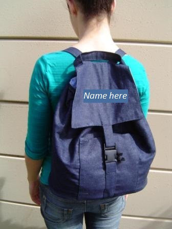 Personalised Denim Rucksacks - Large