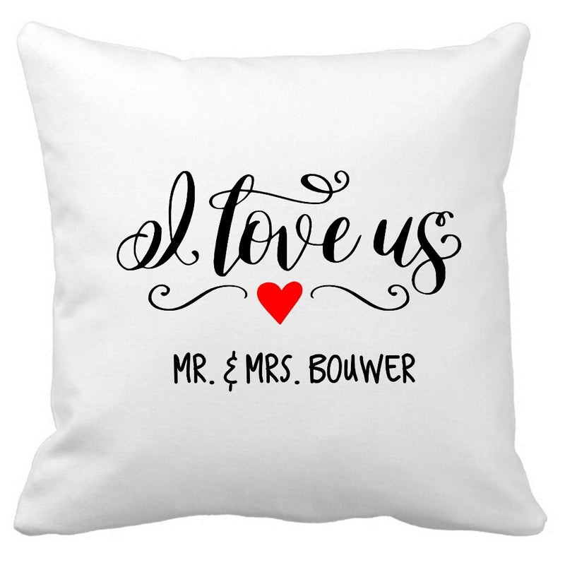 I Love Us Cushion (with names)