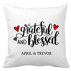 Grateful and Blessed Cushion (with names)