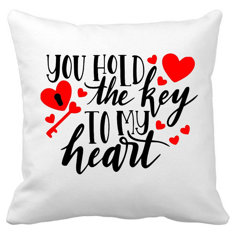 You hold the key to my heart cushion