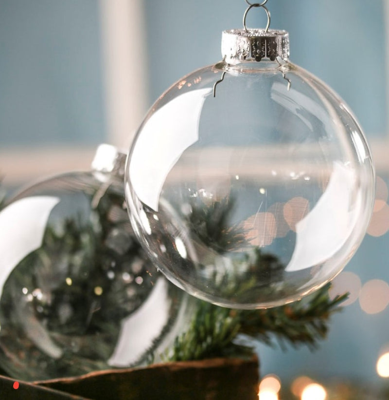 Clear Christmas Bauble - fill your own clear perspex bauble! (no print)