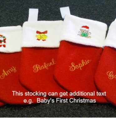 Christmas Stockings - Personalised (with additional wording)