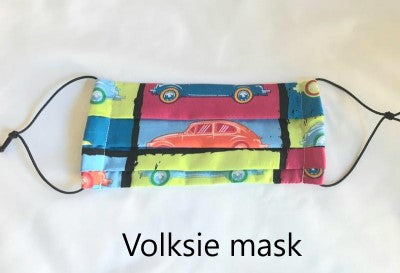 Pleated Fabric mask with pocket for filter (Children under 13)