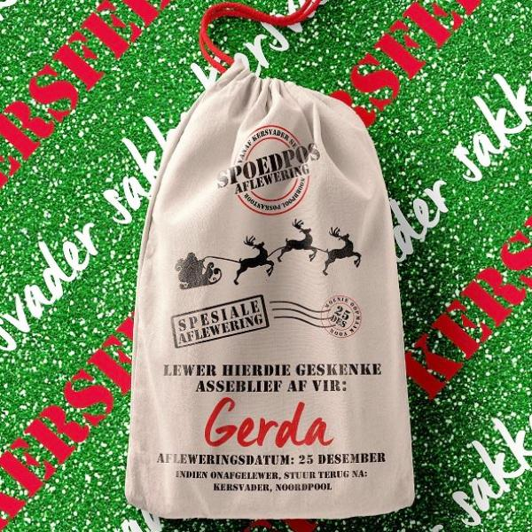 Bag - Personalised Santa Bag (Afrikaans) - by Georgie & Moon