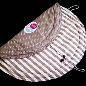 Tidy Tot - Chic - Brown and White Stripes / Dots