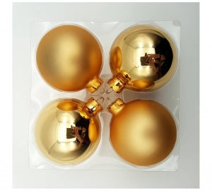 Christmas Baubles - 8cm Glass Baubles (pack of 4)