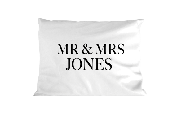 Mr and Mrs (surname) - Pillowcase