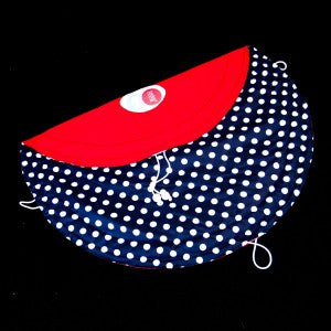 Tidy Tot - Chic - Navy Polka Dots / Red