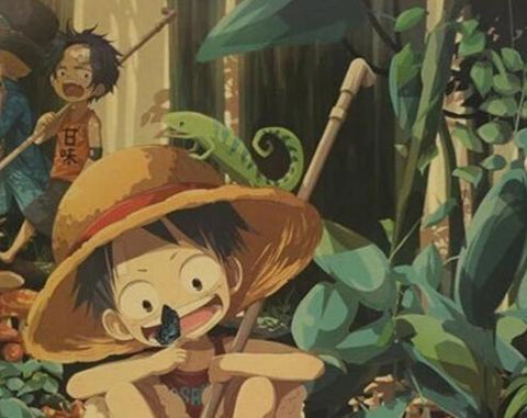 Poster Luffy Ace enfant