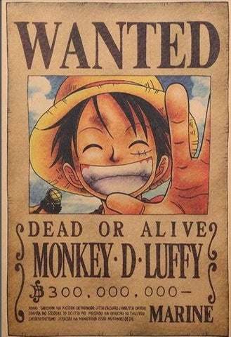 Poster Luffy Wanted