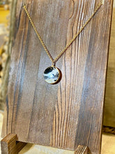 "Load image into Gallery viewer, ""Ash"" - Black and White Agate on Brass Chain - Yaya Accessories"