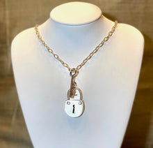 "Load image into Gallery viewer, ""Locked"" - Sterling silver lock and key on a silver chain - Yaya Accessories"