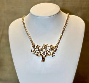 """Roots"" Gold - Gold plated crafted tree on Gold plated chain - Yaya Accessories"