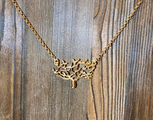 "Load image into Gallery viewer, ""Roots"" Gold - Gold plated crafted tree on Gold plated chain - Yaya Accessories"
