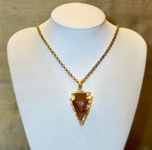 "Load image into Gallery viewer, ""Spear"" - Handcrafted gold plated Arrowhead on a Gold Plated Chain - Yaya Accessories"