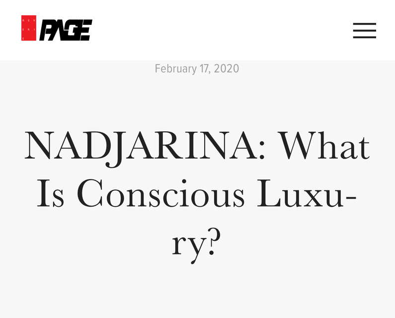 Nadjarina: What is Conscious Luxury?