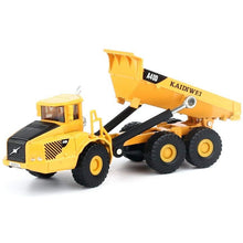 Load image into Gallery viewer, 1/87th Scale Diecast Metal Articulated Dump Truck