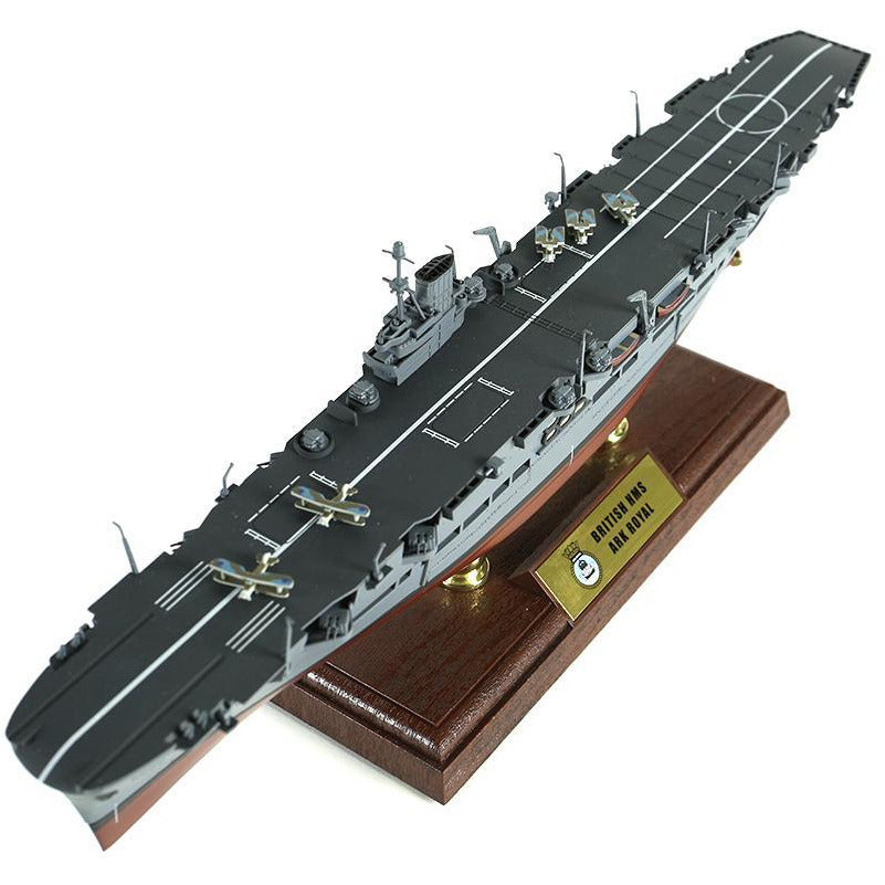 1:700th Die-cast British HMS Ark Royal Aircraft Carrier - Operations off Norway 1942 - Taigen Tanks
