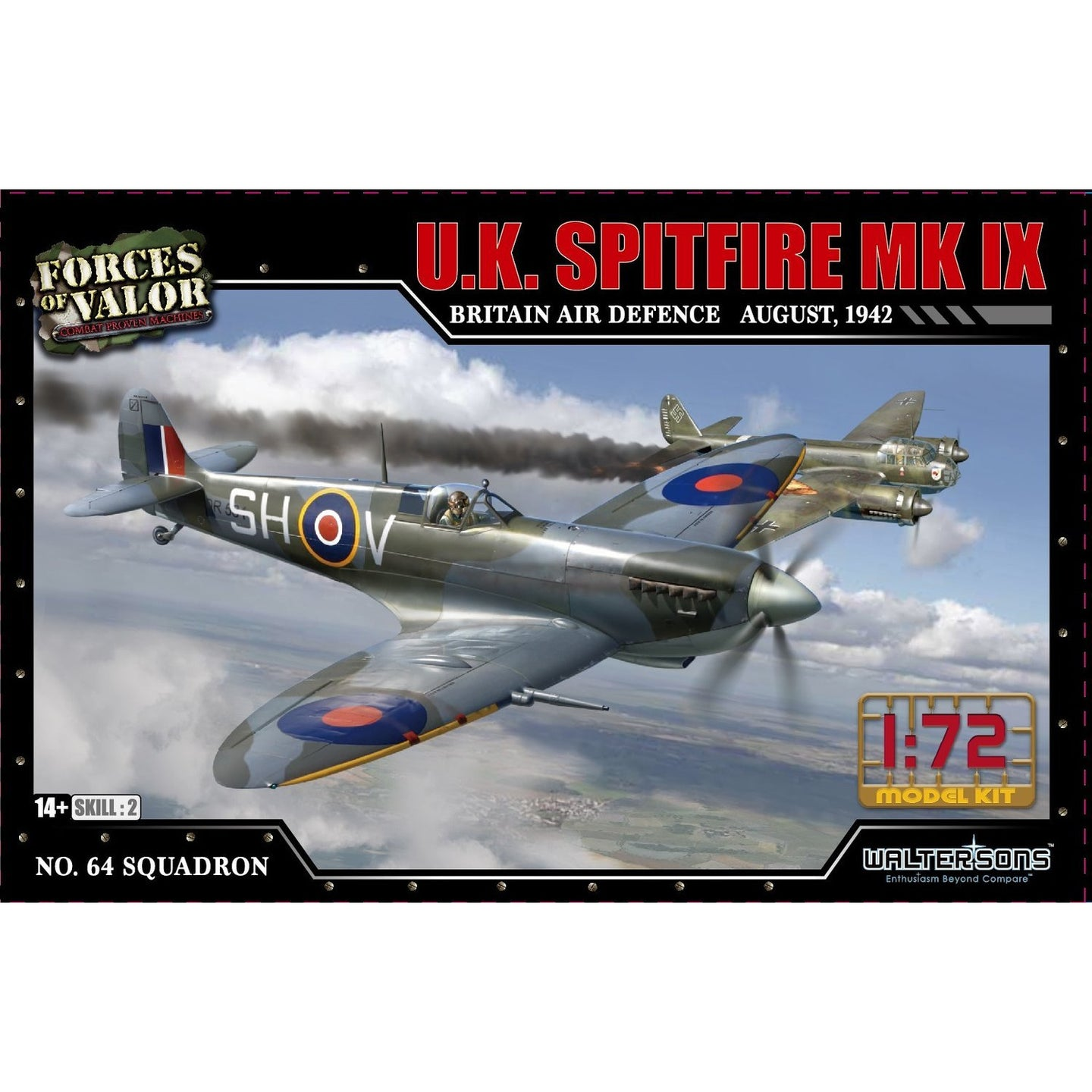 1:72nd Kit UK Spitfire MK IX - Britain Air Defence, August of 1944 - Taigen Tanks