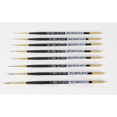 IMEX Kolinsky Red Sable Brushes (Pick Size) - Taigen Tanks